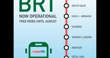 Bus Rapid Transit (BRT) - Sunway Line alignment map